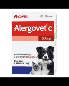 Medicamento Alergovet C 0,7mg 10 Comprimidos