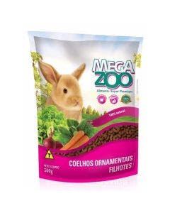 Alimento Super Premium Mega Zoo Coelhos Ornamentais Filhotes 500g