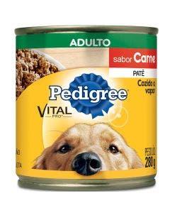 Alimento Úmido Pedigree Patê Cães Adultos Carne 290g