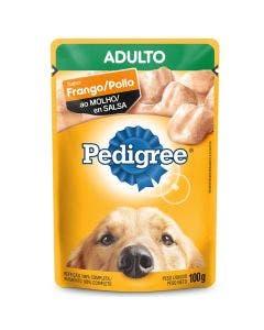 Alimento Úmido Sachê Pedigree Cães Adultos Frango ao Molho 100g