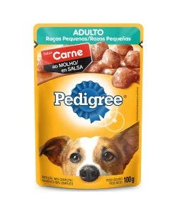 Alimento Úmido Pedigree Cães Adultos Raças Pequenas Carne ao Molho 100g