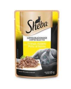 Alimento Úmido Sheba Gatos Adultos Frango Assado 85g