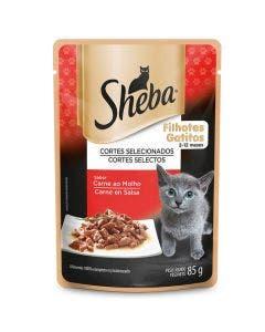 Caixa Alimento Úmido Sheba Gatos Filhotes Carne ao Molho - 20 Unidades