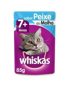 Alimento Úmido Whiskas Sênior 7+ Gatos Adultos Peixe 85g