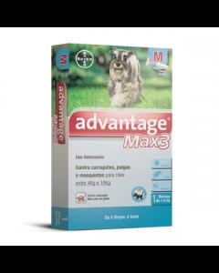 Antipulgas Advantage Max3 Cães Entre 4 a 10Kg - 1 Bisnaga
