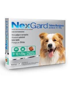 Antipulgas Nexgard Cães de 10 à 25Kg 3 Tabletes