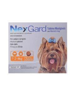 Antipulgas Nexgard Cães de 2 à 4Kg 3 Tabletes