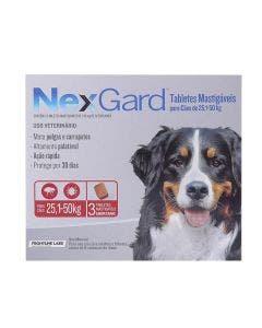 Antipulgas Nexgard Cães de 25 à 50Kg 3 Tabletes