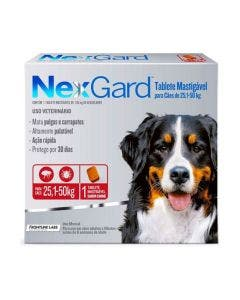Antipulgas Nexgard Cães de 25 à 50Kg 1 Tablete