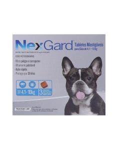 Antipulgas Nexgard Cães de 4 à 10Kg 3 Tabletes