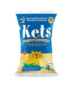 Areia Sanitária Kets Premium Natural 4Kg