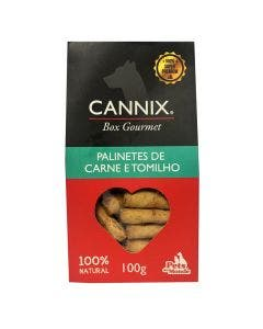 Petisco Cannix Box Gourmet Palinetes de Carne e Tomilho 100g