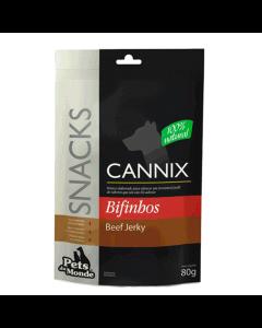 Petisco Cannix Snack Beef Jerky Língua Bovina Seca 80g