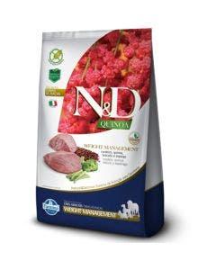 Ração N&D Quinoa Weight Management Cães Adultos Cordeiro 800 g