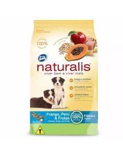 Ração Naturalis Cães Filhotes Frango, Peru e Frutas 15 Kg