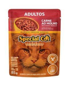 Alimento Úmido Special Cat Gatos Adultos Carne ao Molho 85g