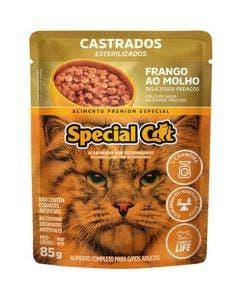 Alimento Úmido Special Cat Gatos Castrados Frango ao Molho 85g