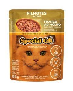 Alimento Úmido Special Cat Gatos Filhotes Frango ao Molho 85g
