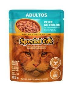 Alimento Úmido Special Cat Gatos Adultos Peixe ao Molho 85g