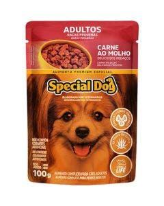 Alimento Úmido Special Dog Cães Adultos Raças Pequenas Carne ao Molho 100g