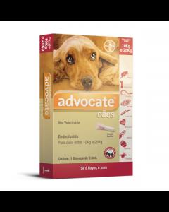 Antipulgas Advocate Cães Entre 10 e 25Kg Bayer