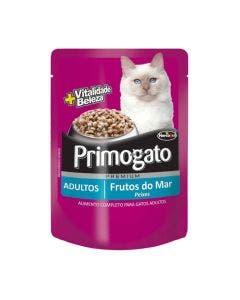 Alimento Úmido Primogato Gatos Adultos Frutos do Mar 85 g