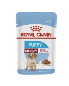 Alimento Úmido Royal Canin Cães Filhotes Medium 140g