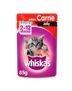 Alimento Úmido Whiskas Filhotes Jelly Carne 85g