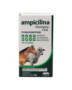 Medicamento Ampicilina Veterinária Oral 50g