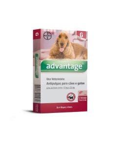 Antipulgas Advantage Cães e Gatos 2,5ml 10 a 25Kg Bayer