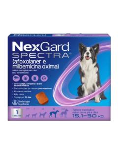 NexGard Spectra Antipulgas e Carrapatos para Cães de 15,1 à 30kg 1 Tablete