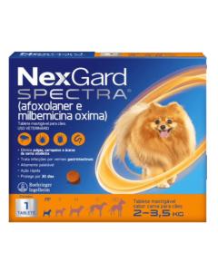 NexGard Spectra Antipulgas e Carrapatos para Cães de 2 à 3,5kg 1 Tablete