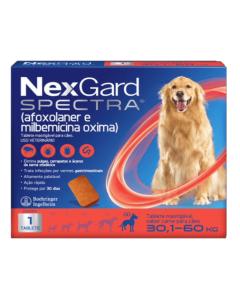 NexGard Spectra Antipulgas e Carrapatos para Cães de 30,1 a 60kg 1 Tablete