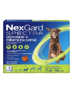 NexGard Spectra Antipulgas e Carrapatos para Cães de 7,6 à 15Kg 1 Tablete