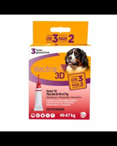 Antipulgas Vectra 3D Cães 40 à 67Kg - 3 Pipetas