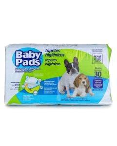 Tapete Higiênico Baby Pads 60 x 65cm 30 Unidades