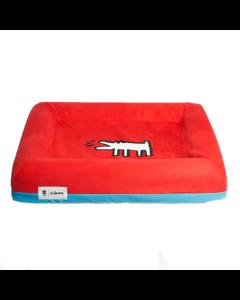 Capa de Cama Zee Dog Keith Haring Vermelha Small