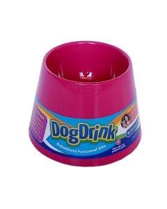 Bebedouro DogDrink Funcional Alto Cães de Pequeno Porte Pink