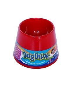 Bebedouro DogDrink Funcional Alto Cães de Pequeno Porte Vermelho