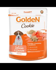 Biscoito Cookie Golden Cães Filhotes Salmão e Quinoa 350g