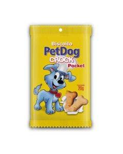 Biscoito Pet Dog Crock Pocket para Cães 20g