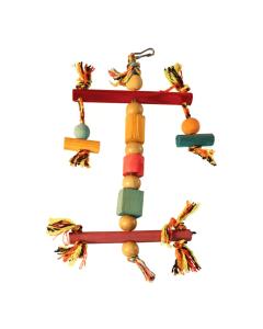 Brinquedo Happy Bird Espantalho de Madeira para Pássaros