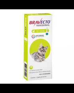 Antipulgas Bravecto Transdermal 0,4 ml Gatos 1,2 à 2,8 Kg