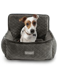 Cadeirinha de Carro NanDog para Cães em Microfibra Cinza Escuro G