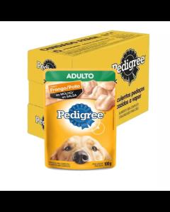Caixa Alimento Úmido Pedigree Cães Adultos Frango ao Molho - 18 Unidades