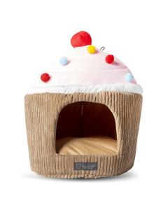 Cama NanDog em Formato de Cupcake para Cães e Gatos