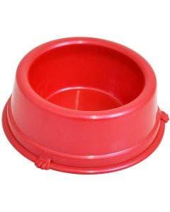 Comedouro Plástico São Pet Vermelho 500mL
