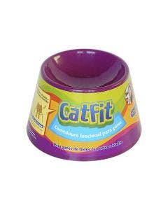 Comedouro Cat Eat para Gatos Roxo