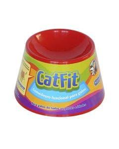 Comedouro Cat Eat para Gatos Vermelho