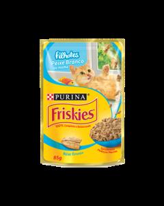 Alimento Úmido Sachê Friskies Gatos Filhotes Peixe Branco ao Molho 85g